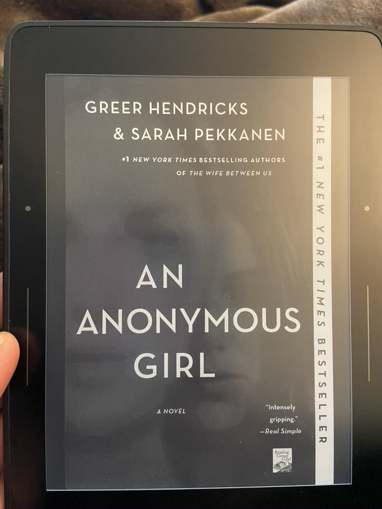 Book Review - An Anonymous Girl