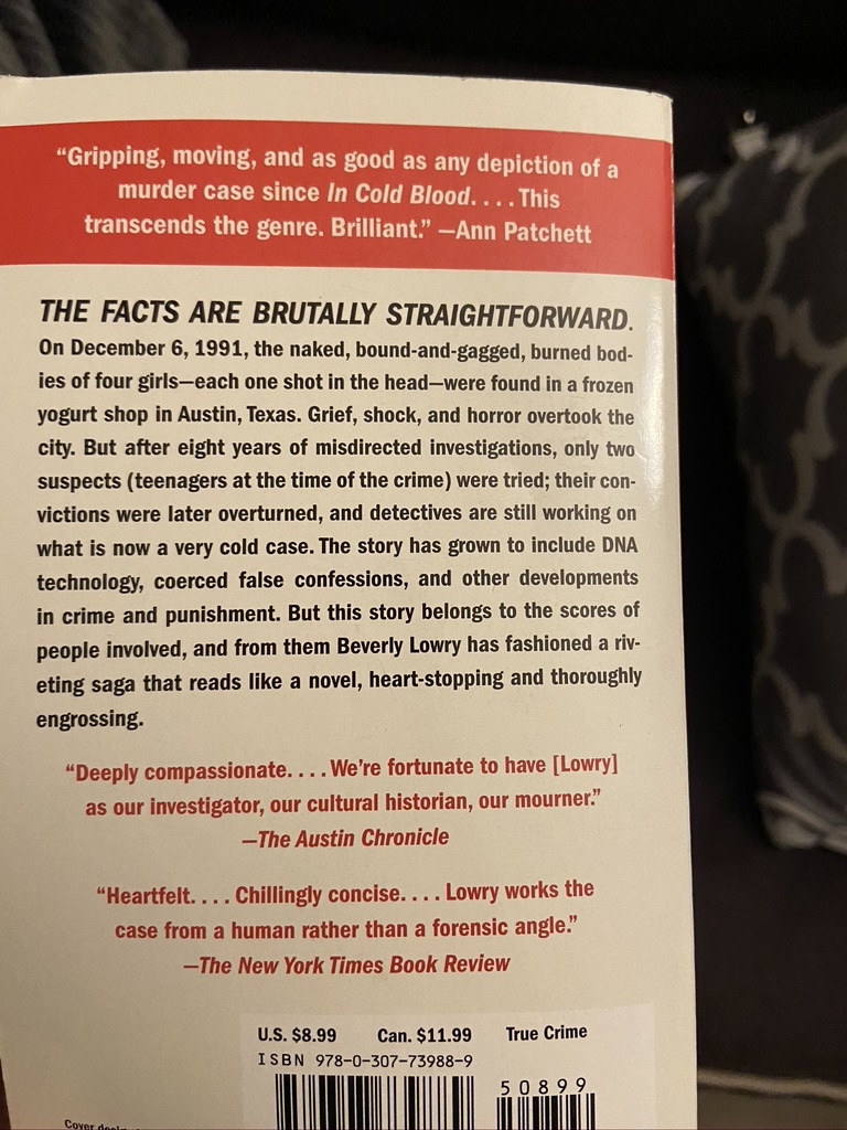 Who Killed These Girls - Back of the book